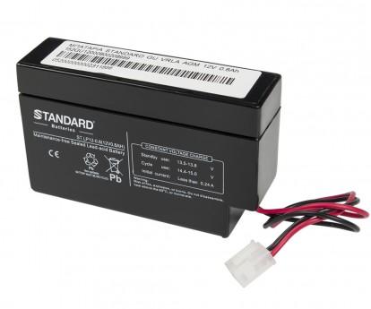 Μπαταρία STANDARD RECHARGE βαθείας εκφόρτισης VRLA AGM120008 12V 0.8Ah(C20) 0.74Ah(C10) 0.67Ah(C5)