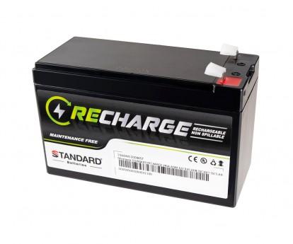 Μπαταρία STANDARD RECHARGE βαθείας εκφόρτισης VRLA AGM120090 12V 9.0C20/8.31C10/7.55C5 AH