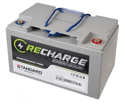 Μπαταρία STANDARD RECHARGE βαθείας εκφόρτισης VRLA AGMGEL12075 12V 75.0C20/68.0C10/64.0C5 AH