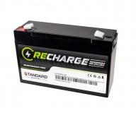 Μπαταρία STANDARD RECHARGE βαθείας εκφόρτισης VRLA AGM060120 6V 12.0C20/11.2C10/10.2C5 AH