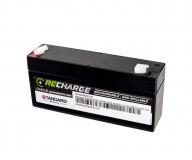 Μπαταρία STANDARD RECHARGE βαθείας εκφόρτισης VRLA AGM060032 6V 3.2C20/2.98C10/2.69C5 AH