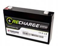 Μπαταρία STANDARD RECHARGE βαθείας εκφόρτισης VRLA AGM 6V 7.0C20/6.51C10/5.95C5 AH