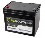 Μπαταρία STANDARD RECHARGE βαθείας εκφόρτισης VRLA AGMGEL12040 12V 38.0C20/34.0C10/33.0C5 AH