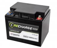 Μπαταρία STANDARD RECHARGE βαθείας εκφόρτισης VRLA AGM/GEL 12V 45.0C20/42.0C10/40.0C5 AH